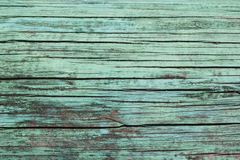 Viejo fondo de madera de la textura de la turquesa, lugar para el texto imagen de archivo