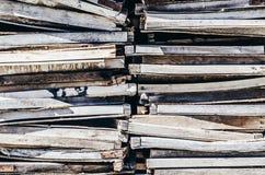 Viejo fondo de madera de las bandejas foto de archivo