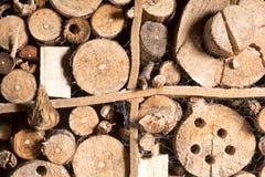 Viejo fondo de madera natural marrón, casa de abeja Fotos de archivo