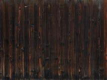Viejo fondo de madera oscuro de la textura Foto de archivo