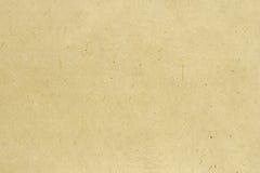 Viejo fondo de papel amarillo Fotografía de archivo libre de regalías
