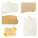 Viejo fondo de papel de la nota de Brown Imágenes de archivo libres de regalías