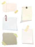 Viejo fondo de papel de la nota de Brown Imagen de archivo