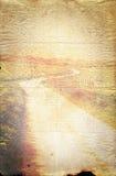Viejo fondo de papel de la textura de la carretera con curvas fotos de archivo