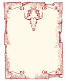 Viejo fondo de papel del vaquero Fotografía de archivo libre de regalías