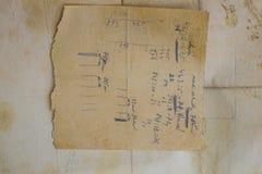 Viejo fondo de papel envejecido Grunge del vintage Concepto de la textura Fotos de archivo