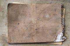 Viejo fondo de papel envejecido Grunge del vintage Concepto de la textura Imágenes de archivo libres de regalías