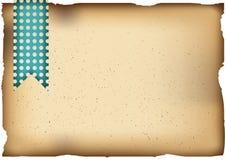 Viejo fondo de papel Plantilla horizontal A4 ilustración del vector
