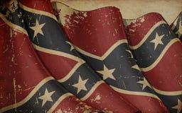 Viejo fondo de papel rebelde confederado stock de ilustración