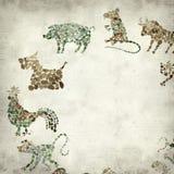 Viejo fondo de papel Textured Imagenes de archivo