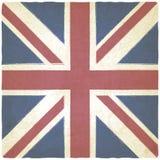 Viejo fondo de Union Jack Foto de archivo