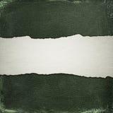 Viejo fondo del algodón con la tira de papel rasgado Fotos de archivo