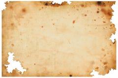 Viejo fondo del papel marrón Foto de archivo