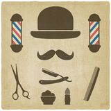 Viejo fondo del peluquero Fotos de archivo