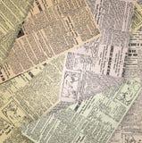 Viejo fondo del periódico Foto de archivo