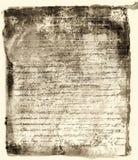 Viejo fondo del texto Foto de archivo