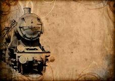 Viejo fondo del tren de la vendimia retra Fotografía de archivo libre de regalías