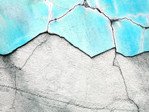 Viejo fondo destruido del muro de cemento Imagen de archivo libre de regalías