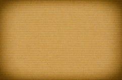 Viejo fondo marrón de papel rayado Fotografía de archivo