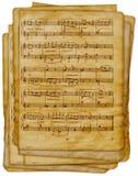 Viejo fondo musical de las notas Fotos de archivo libres de regalías