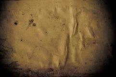 Viejo fondo oscuro de papel marrón Imagenes de archivo