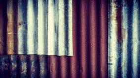 Viejo fondo oxidado de la textura del cinc Fotografía de archivo libre de regalías