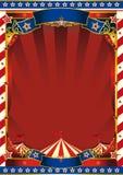 Viejo fondo rayado americano del circo Foto de archivo