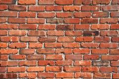 Viejo fondo rojo de la pared de ladrillo para el diseño Foto de archivo libre de regalías