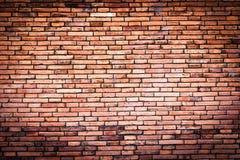 Viejo fondo rojo de la textura de la pared de ladrillo Imagen de archivo