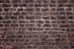 Viejo fondo rojo de la textura de la pared de ladrillo Fotografía de archivo