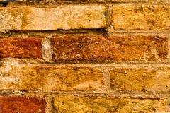 Viejo fondo rojo y marrón de la textura de la pared de ladrillo Foto de archivo