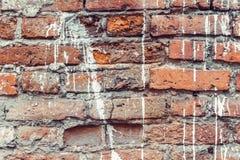 Viejo fondo sucio de la pared de ladrillo Imagenes de archivo