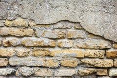 Viejo fondo sucio de la pared de ladrillo Fotos de archivo libres de regalías