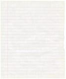 Viejo fondo sucio de la textura de la hoja del papel de nota Imagen de archivo libre de regalías