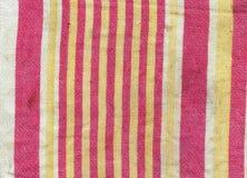 Viejo fondo sucio rayado 2 de la toalla del paño Fotografía de archivo