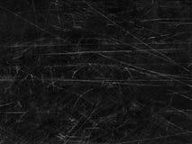 Viejo fondo superficial rasguñado negro Fotografía de archivo libre de regalías