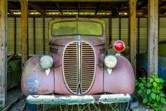 Viejo Ford Police Car Imagenes de archivo