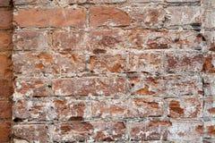 Viejo fragmento de la pared de ladrillo imagen de archivo