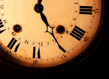 Viejo fragmento del reloj Fotos de archivo