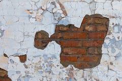 Viejo fragmento resistido de la pared de ladrillo Foto de archivo libre de regalías