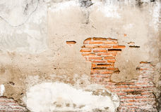 Viejo fragmento resistido de la pared de ladrillo, fondo de la textura Imagen de archivo libre de regalías