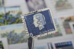 Viejo franqueo canadiense Fotos de archivo libres de regalías
