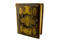Viejo frente de la biblia de familia fotografía de archivo libre de regalías