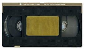 Viejo frente de la cinta de cinta de video Imágenes de archivo libres de regalías