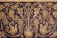 Viejo fresco con adorno de la uva Fotografía de archivo