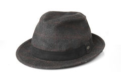 Viejo Gray Hat en el fondo blanco Imagenes de archivo