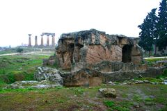Viejo Griego Corinto imagenes de archivo