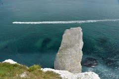 Viejo Harry Rocks cerca de Swanage Imágenes de archivo libres de regalías