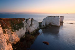 Viejo Harry Rocks en Dorset. Fotos de archivo