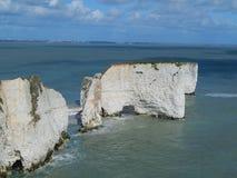 Viejo Harry Rocks, Reino Unido Imagen de archivo libre de regalías